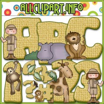 On Safari Lettering Delights Alphas - Cheryl Seslar Clip Art