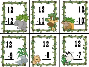 On Safari What's The Difference? Subtraction Game