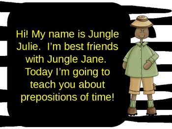 On Safari with Prepositions Part 2