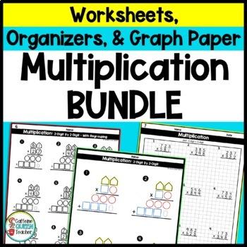 2 Digit Multiplication BUNDLE for Shape Multiplication