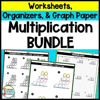 Multiplication: 2 Digit Worksheets and Organizers BUNDLE