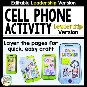 Cell Phone for Leadership Goals - Editable