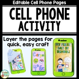 Cell Phone Activity - Editable!