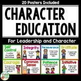 Character Trait Posters for Leadership and Character Education