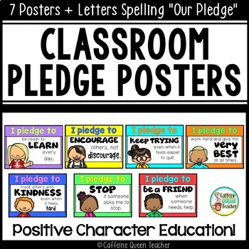 Classroom Pledge For Character Education