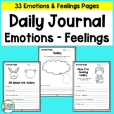 Behavior Management Journal for Student Thoughts and Feelings