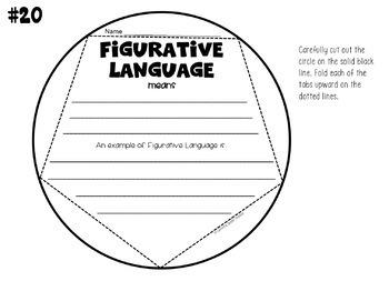 Figurative Language Dodecahedron Craft Activity