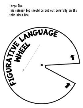 Figurative Language Spinner Foldable Activity