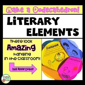Literary Elements Dodecahedron Craft Activity