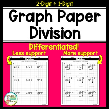Long Division On Graph Paper: 2 Digits by 1 Digit