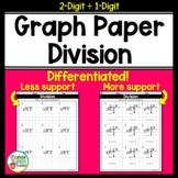 Long Division On Graph Paper 2 Digits by 1 Digit