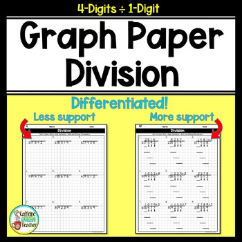 Long Division On Graph Paper: 4 Digit by 1 Digit