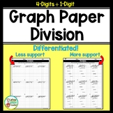 Long Division On Graph Paper with 4 Digits by 1 Digit