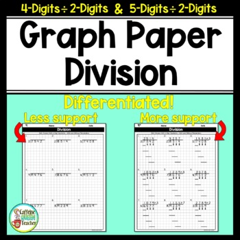 Long Division On Graph Paper with 4-Digits and 5-Digits by 2-Digits