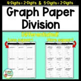 Long Division On Graph Paper with 4-Digits and 5-Digits by