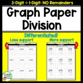 Long Division On Graph Paper No Remainders 3-Digits by 1-Digit