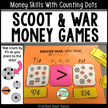 Money Scoot Coin Counting Game Set with Counting Dots