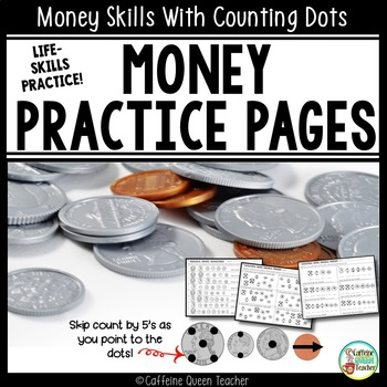 Touch Money and Coin Counting Worksheets with Counting Dots