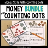 Money Counting Worksheets and Game Bundle with Counting Dots