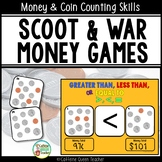 Money Scoot and Coin Counting Game Set
