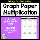3-Digit Multiplication on Graph Paper Worksheets