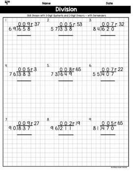 Multiplication and Division on Graph Paper - BUNDLE