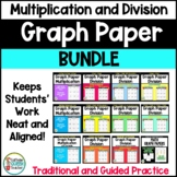 Multiplication and Division on Graph Paper BUNDLE
