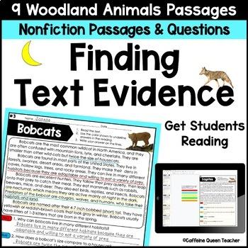 Reading Comprehension Passages Nonfiction Text Evidence BUNDLE