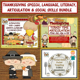 ON SALE! Thanksgiving Bundle: Language, Literacy, Artic, Speech, Social Skills