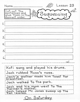 On Saturday  1st Grade Harcourt Storytown Lesson 23