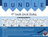 On Target 4th Grade Social Studies Worksheet Bundle