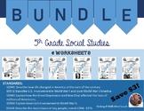 On Target 5th Grade Social Studies Worksheet Bundle