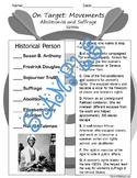 On Target -  Abolitionist and Suffrage Movements (Major Pe