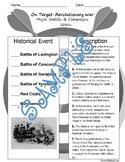 On Target - Revolutionary War (Major Events - Battles) - SS4H1c