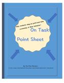 On Task Point Sheet