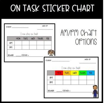 On Task Sticker Charts