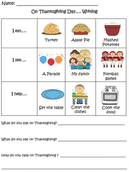 """On Thanksgiving Day"" Writing Prompt"