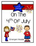 On The 4th Of July - Emergent Reader