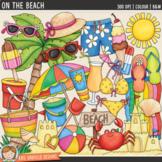 "Summer Beach Clip Art: ""On the Beach"""