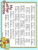 On The Bus Full Sheet Dotted Letter with Line Alphabet Pra
