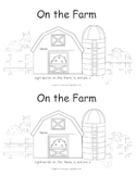 On The Farm- A Color Word Book
