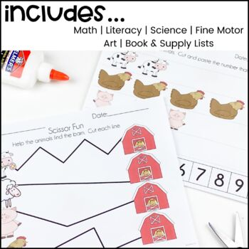 On The Farm!  A Math, Literacy, and Science Unit for Preschool and Kindergarten