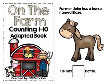 On The Farm Adapted Book (Counting 1-10)