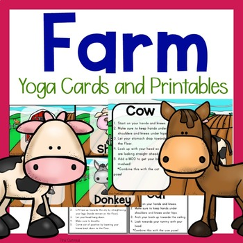 Farm Themed Yoga and Moo-vement Cards