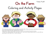 On The Farm Coloring and Activity Pages
