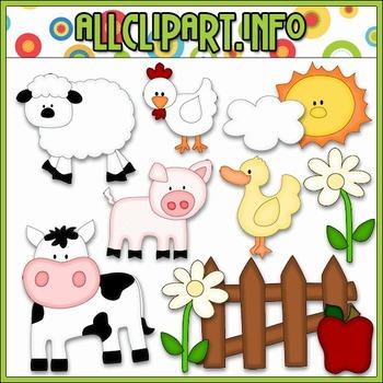 On The Farm Cutting File & Clip Art - Cheryl Seslar Clip Art