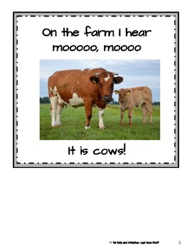 On The Farm- Informational Text (level 3-4)