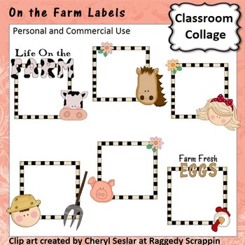 On The Farm Labels