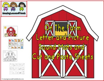 On The Farm Letter Mats and Cut and Paste Sheets