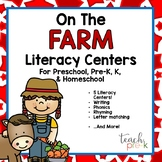 On The Farm Literacy Centers for Preschool, PreK, K, & Homeschool